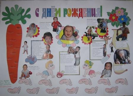 Плакаты на день рождения своими руками на один годик